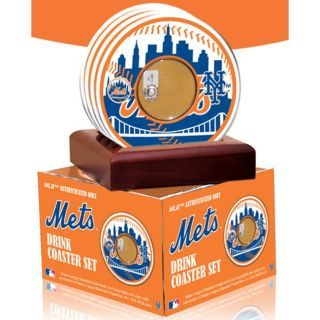 Steiner Sports New York Mets Coasters w/ Game Field Dirt (Set of 4