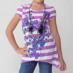 Self Esteem Girls Short sleeve Striped Top