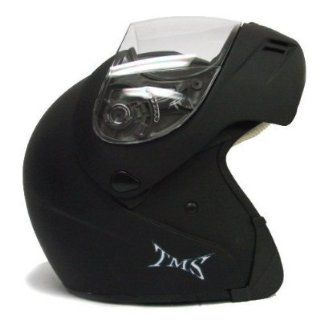 BLACK FLIP UP FULL FACE MOTORCYCLE MODULAR HELMET DOT(JX A111 SOLID