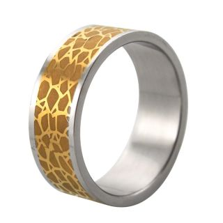 Stainless Steel Two tone Nature Print Band Today $14.69