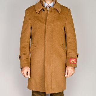 Mantoni Mens Wool/Cashmere Blend Modern Coat