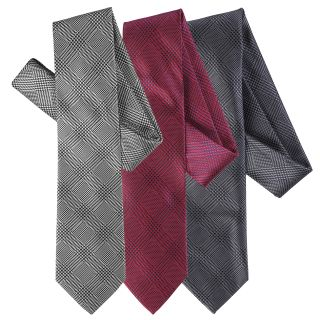 Boston Traveler Mens Window Pane Microfiber Tie and Hanky Set