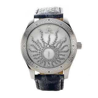 Techno Master Womens Sunny Motif Stainless Steel Watch