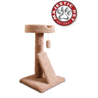 Majestic Pet 30 inch Carpeted Ramp Claw Bed Cat Tree Today $55.99