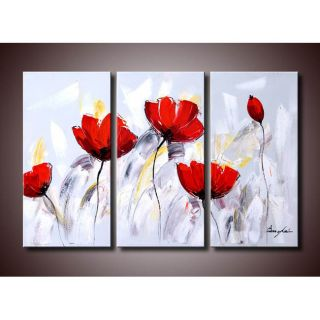 Winter Plum 5 piece Oil Canvas Art Set