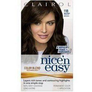 Nice n Easy Hair Color, Natural Medium Brown (118), 2 pk Beauty