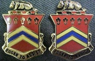 120th Field Artillery Distinctive Unit Insignia  Pair