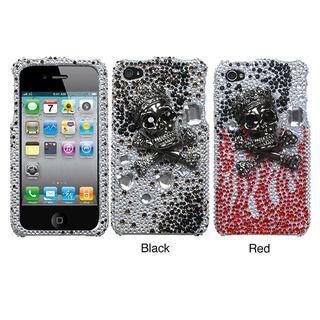 Premium Apple iPhone 4/4S Skull King Rhinestone Case