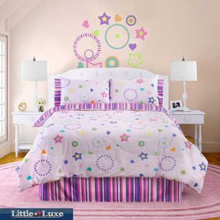 Glow In The Dark Star Glow 4 piece Full size Comforter Set