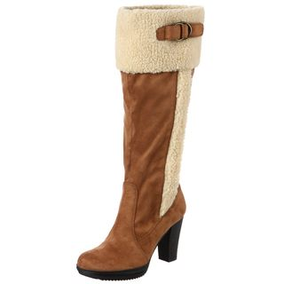 Naturalizer Womens Trinity Tan Wide Calf Boots