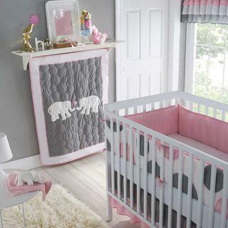 Victoria Classics Pink Parade 5 Piece Crib Bedding Set