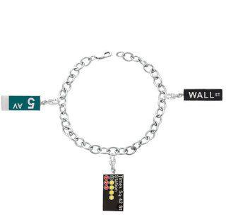Sterling Silver New York City Theme Charm Bracelet
