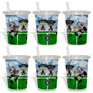 Oakland Raiders Sip and Go Cups (Pack of 6) Today $18.99
