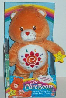 Care Bears Singing Spanish Amigo Bear 12 Plush w/ DVD
