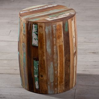 Reclaimed Wood Weathered Tanki Table (India)