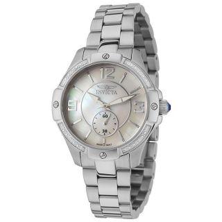 Invicta Womens Invicta II Stainless Steel White Diamond Watch