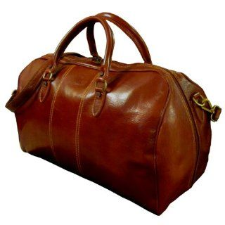 AUTHENTIC VINTAGE VALOR ITALIAN LEATHER BROWN DUFFLE TRAVEL BAG
