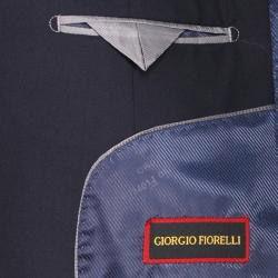 Giorgio Fiorelli Mens Navy Blue 2 button Slim fit Suit