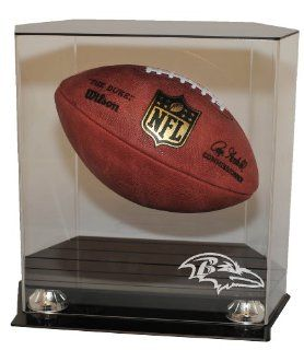 Baltimore Ravens Floating Football Display Case   Acrylic