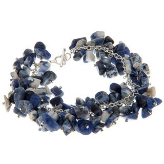 Blue and White Lapis Chip Bracelet