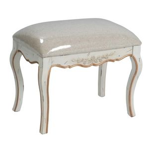 Diane Hand painted White Bench