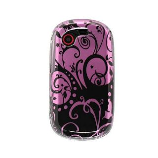 Purple and Black Swirl Samsung Gravity Touch T669 Crystal Case