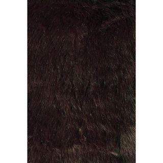 Jungle Sheep Skin Brown Rug (5 x 76)