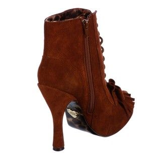 Betsey Johnson Womens Terrii Lace up Booties