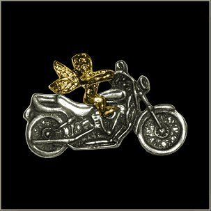 Guardian Angel Biker Pin    Automotive