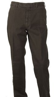 Burberry Mens Dark Brown Cotton Pants