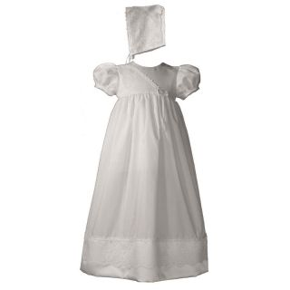 Cherubic Baby Christening Gown and Bonnet