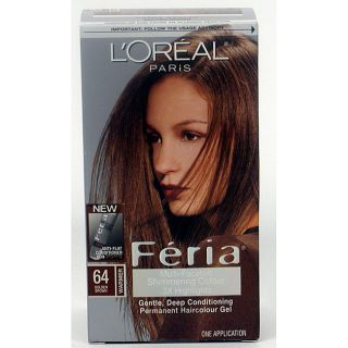 Oreal Feria #64 Golden Brown Hair Color (Pack of 3)