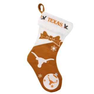 Texas Longhorns Polyester Christmas Stocking