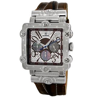 JBW Mens Phantom Stainless Steel and Diamond Chronograph Watch