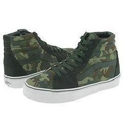 Vans Kids SK8 Hi™ (Youth/Adult) Skull Turtle Camo/Green/Black/Deep