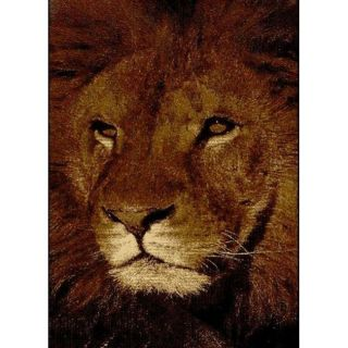 Alexa Cameo Kids Jungle King Lion Brown Rug (53 x 79)