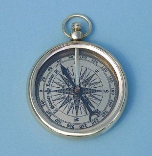 Open Faced Pocket Watch Style Compass: Sports & Outdoors