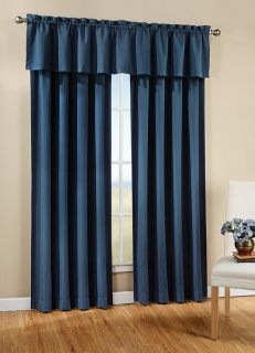 Solid Color Tailored Peach Skin Window Curtain Valance