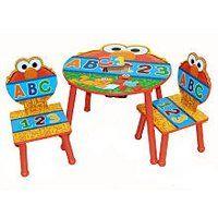 Sesame Street Elmo 123 Theme Storage Table & Chairs Set