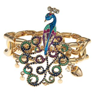 Betsey Johnson Peacock Stretch Bracelet