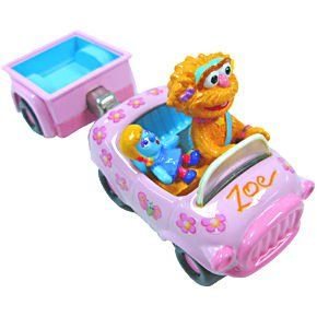 Sesame Street 123 Die Cast Zoe Car and Trailer Toys