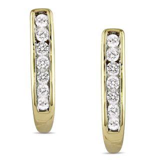 10k Yellow Gold 1/4ct TDW Diamond Earrings (G H, I2 I3)