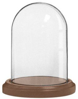 Clear Glass 4X7 Dome And Solid Wood Base Is Perfect For