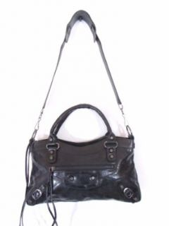 Bruno Black Leather Luxury Italian Motorcycle Handbag Tote
