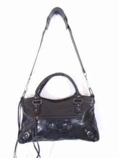 Bruno Black Leather Luxury Italian Motorcycle Handbag Tote