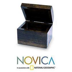 Handcrafted Pinewood Bird Sonata Jewelry Box (El Salvador