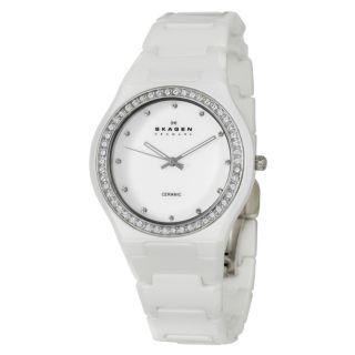 Skagen Womens Ceramic Stainless Steel/ Ceramic Quartz Watch