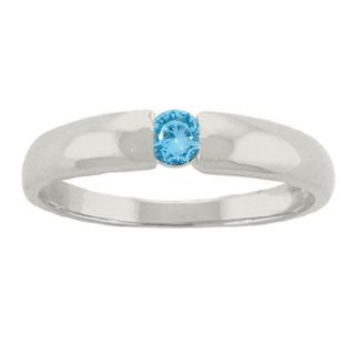 10k Gold Swiss Blue Topaz December Birthstone Ring
