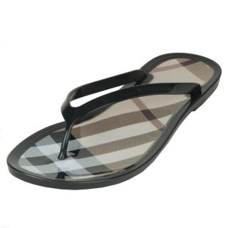 Burberry Womens Brown Logo Flip Flops