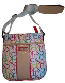 Womens Calvin Klein Purse Handbag Crossbody White Multi